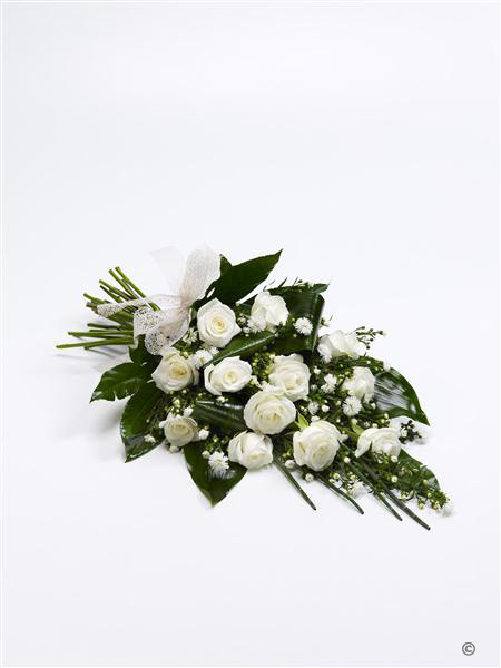 classic white rose sheaf funeral flowers isle of wight